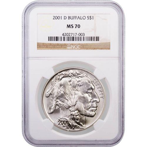 2001-D Modern Commemorative Buffalo Dollar MS70