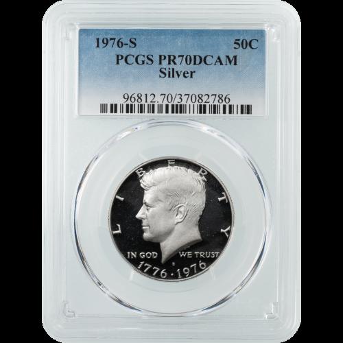 1976-S Silver Bicentennial Kennedy Half Dollar PCGS PR70 DCAM
