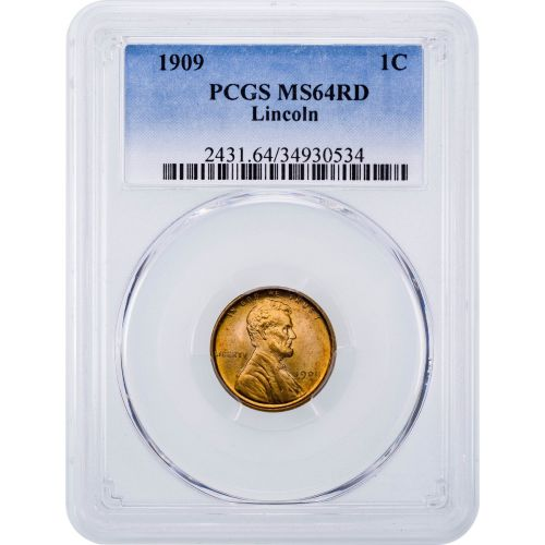 1909-P Lincoln Cent MS64RD