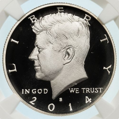 .50 2014-S High Relief Silver Kennedy Half Dollar Enhanced Finish NGC SP69DPL