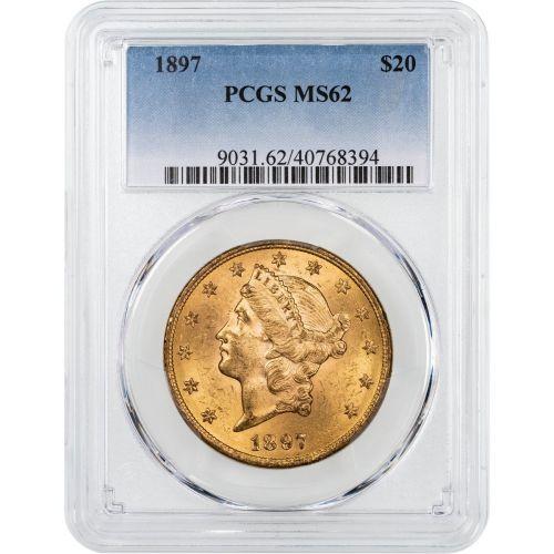 1897-P Liberty Head Gold Double Eagle MS62