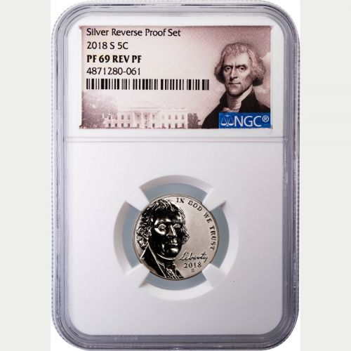 2018-S Reverse Proof Jefferson Nickel NGC PF69