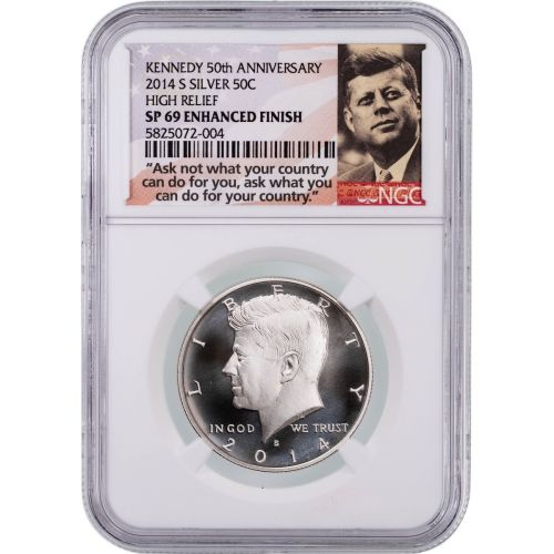 2014-S High Relief Kennedy Half Dollar NGC SP69