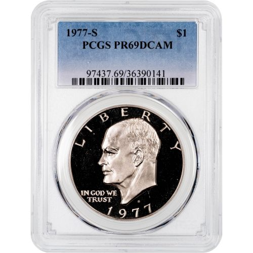 1977-S Eisenhower Dollar PCGS PR69DCAM