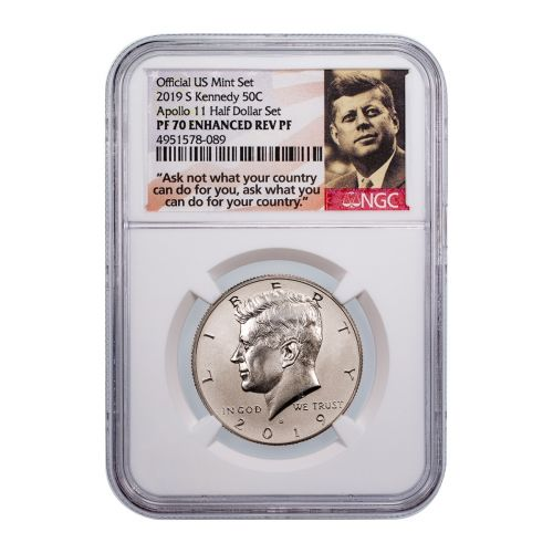 2019-S Kennedy Half Dollar PF70 Enhanced Reverse Proof