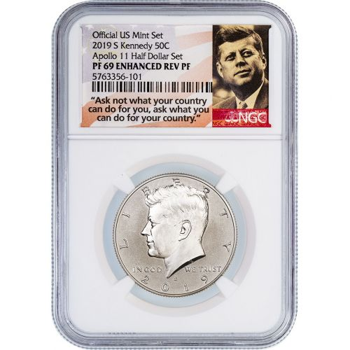 .50 2019-S Kennedy Half Dollar NGC PF69 Enhanced Rev PF