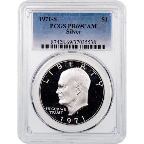 1971-S Silver Eisenhower Dollar PCGS PR69CAM