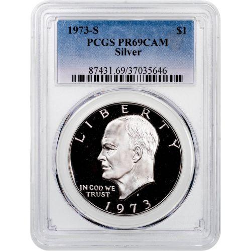 1973-S Silver Eisenhower Dollar PCGS PR69CAM