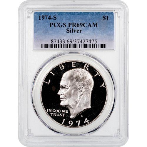 1974-S Silver Eisenhower Dollar PCGS PR69CAM