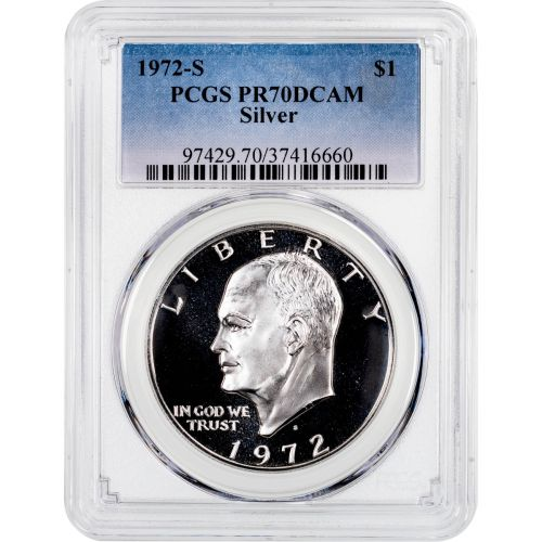 1972-S Silver Eisenhower Dollar PCGS PR70DCAM