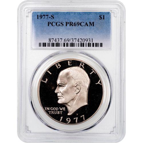1977-S Eisenhower Dollar PCGS PR69CAM