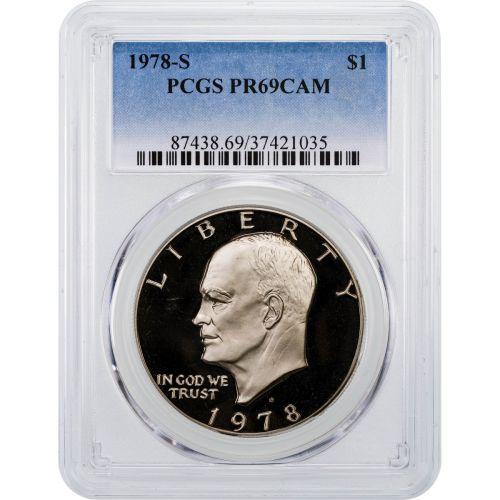 1978-S Eisenhower Dollar PCGS PR69CAM