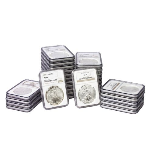 Set of 31: 1986-2016 American Silver Eagle MS69