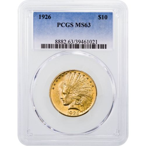 1926-P Indian Head Gold Eagle MS63