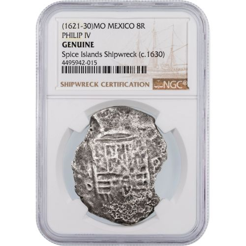 1630 MO Mexico 8 reales Spice Island Shipwreck Philip IV Coin NGC Genuine