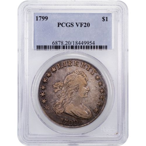 1799 Draped Bust Dollar PCGS VF20