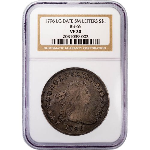 1796 Large Date, Small Letters Draped Bust Dollar NGC VF20
