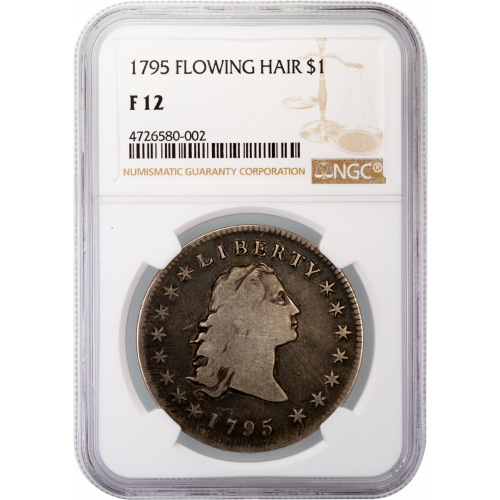 1795 Flowing Hair Silver Dollar NGC F12