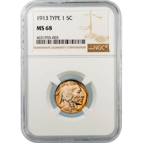 1913-P Type 1 Buffalo Nickel MS68
