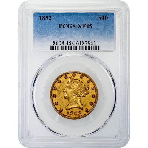1852-P Liberty Head Gold Eagle XF45