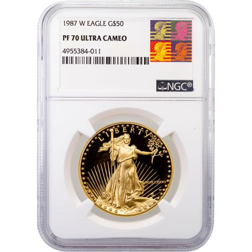 $50 1987-W 1oz American Gold Eagle PF70 Ultra Cameo
