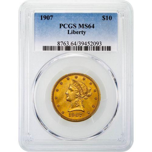 1907-P Liberty Head Gold Eagle MS64