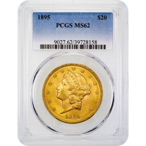 1895-P Liberty Head Gold Double Eagle MS62