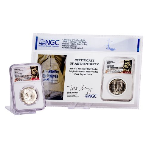 1964-D Kennedy Half Dollar NGC MS63 First Day of Issue