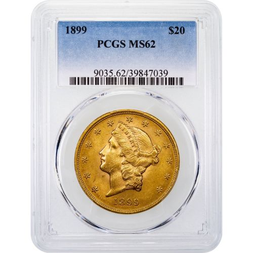 1899-P Liberty Head Gold Double Eagle MS62