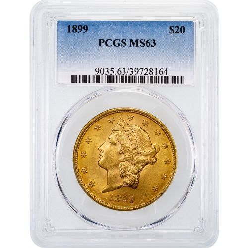 1899-P Liberty Head Gold Double Eagle MS63