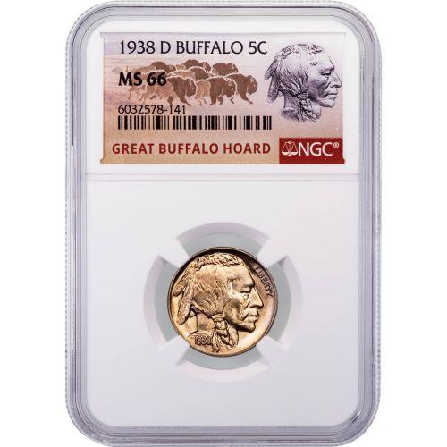 1938-D Buffalo Nickel NGC MS66