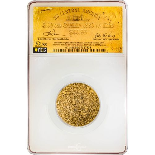5oz 1857 Gold Dust from the SS Central America