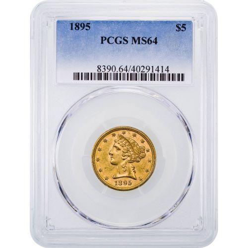 1895-P Liberty Head Gold Half Eagle NGC/PCGS MS64