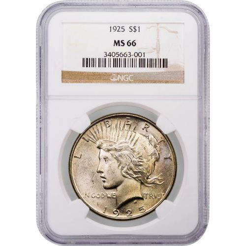 1925-P Peace Dollar NGC MS66 Toned