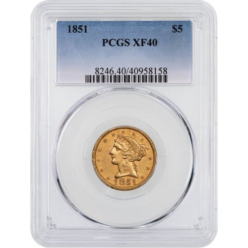 1851-P Liberty Head Gold Half Eagle NGC/PCGS XF40