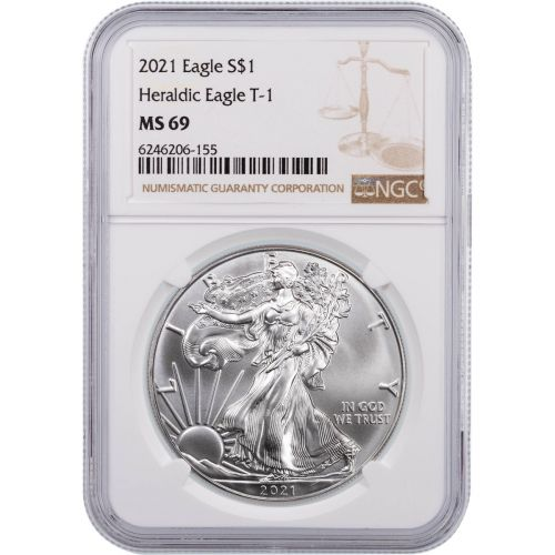 2021 Type 1 American Silver Eagle NGC MS69