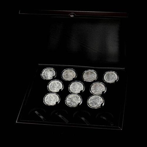 Set of 10: Varied Date Morgan Peace Silver Dollars BU