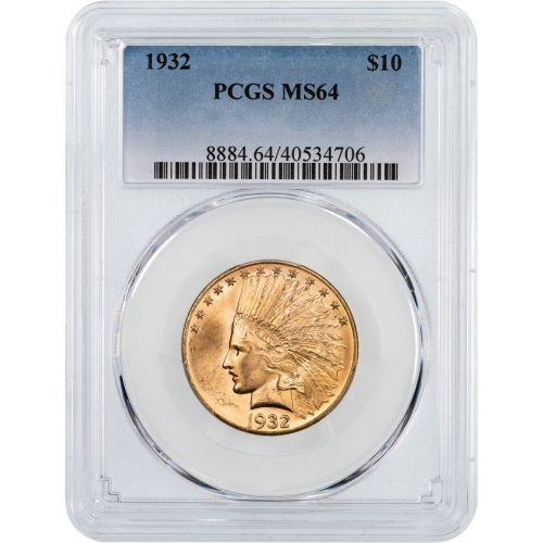 1932-P Indian Head $10 Gold Eagle PCGS MS64