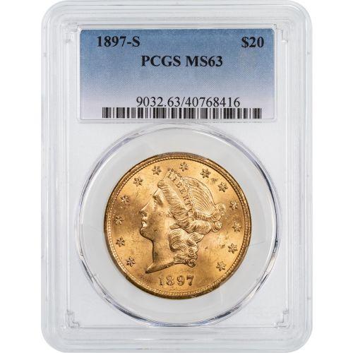 1897-S Liberty Head Gold Double Eagle NGC/PCGS MS63