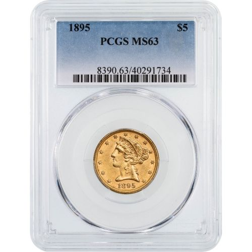 1895-P Liberty Head Gold Half Eagle MS63