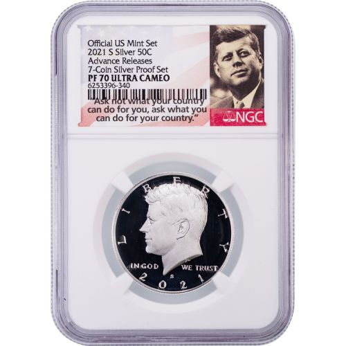 2021-S .999 Silver Kennedy Half Dollar NGC PF70UCAM Advance Releases