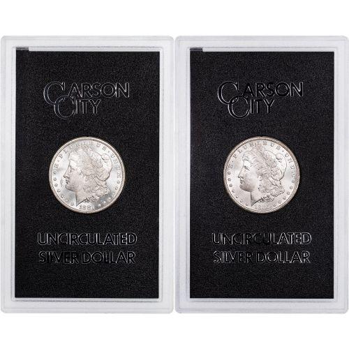 Set of 2: 1881-CC & 1885-CC GSA Morgan Dollars Brilliant Uncirculated