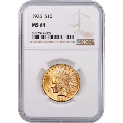1926-P Indian Head Gold Eagle NGC/PCGS MS64