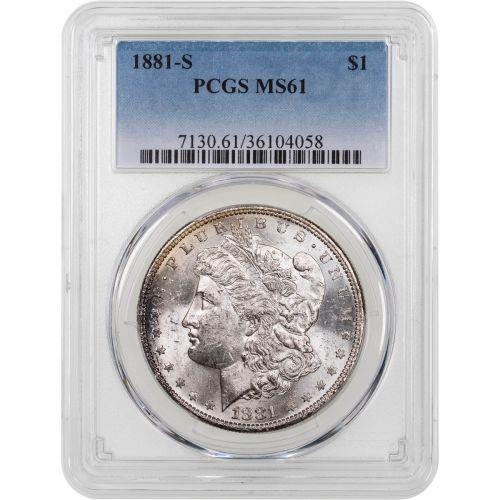 1881-S Morgan Dollar PCGS MS61 Toned