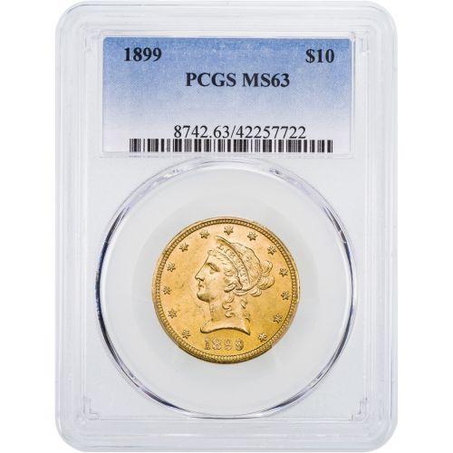 1899-P Liberty Head Gold Eagle NGC/PCGS MS63