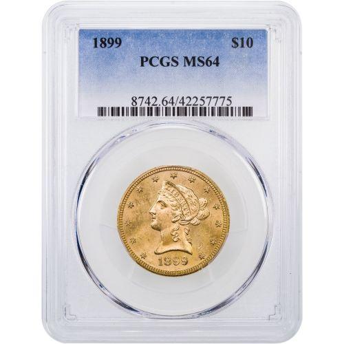1899-P Liberty Head Gold Eagle NGC/PCGS MS64