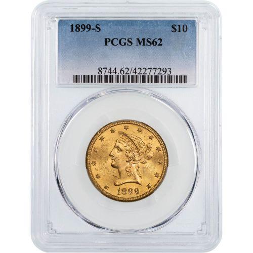 1899-S Liberty Head Gold Eagle NGC/PCGS MS62