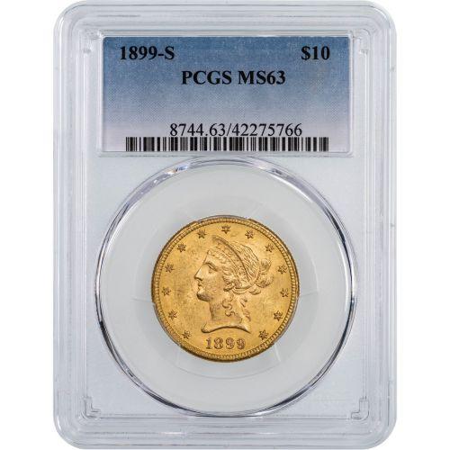 1899-S Liberty Head Gold Eagle NGC/PCGS MS63