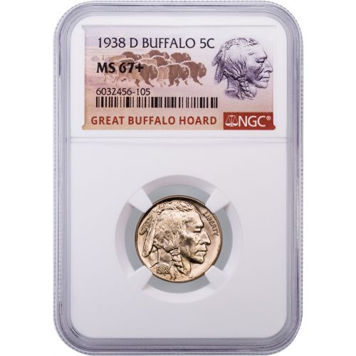 1938-D Buffalo Nickel NGC MS67+