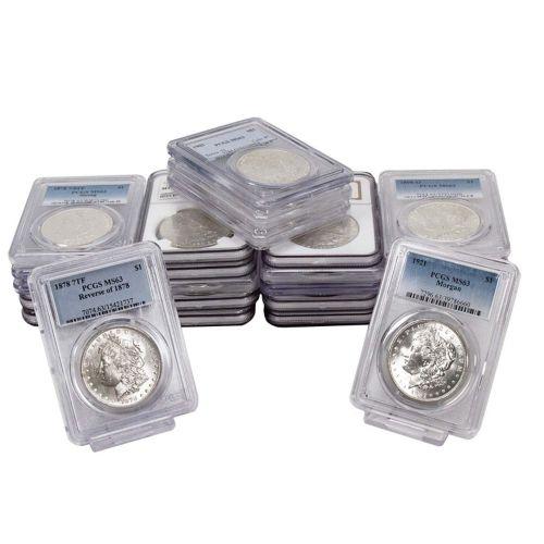 Set of 25: 1879-S to 1921-P Morgan Dollars NGC/PCGS MS63